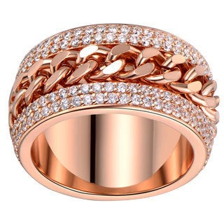 Rose Gold Plated Link Statement Ring