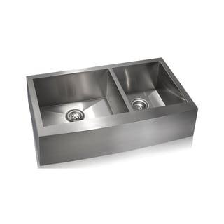 Lenova Zero Radius Stainless Steel Double-basin Farmhouse Sink