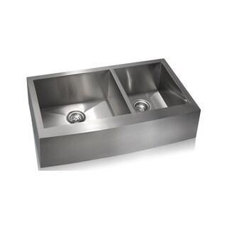 Lenova Zero Radius Stainless Steel Double-basin Farmhouse Sink