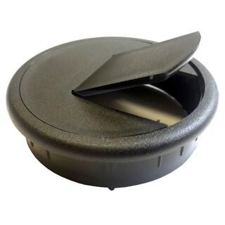 """Black Point Products Inc BE-015-BLACK 2.5"""" Black Plastic Desk Grommets 2-ct"""