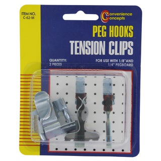 Convenience Concepts SC-62M Pegboard Tension Clips 2-ct