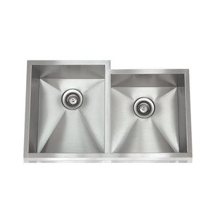 Zero Radius Brushed Satin Stainless Steel 28-inch x 18-inch Stainless Steel Sink