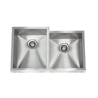 Zero Radius Brushed Satin Stainless Steel 28-inch x 18-inch Stainless Steel Sink