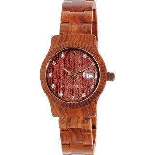 Ab Aeterno Women's Sky Aurora Red Wood Swiss Quartz Watch