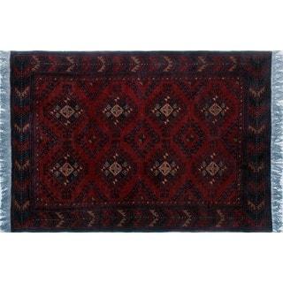 Khal Mohammadi Chadi Red Wool Rug (3'3 x 4'7)