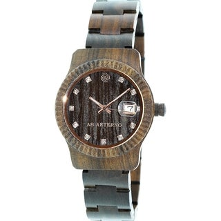 Ab Aeterno Women's Brown Wood Swiss Quartz Watch