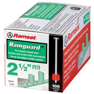 "Itw 09176 3"" Coated Powder Fastener Ramguard Pins w/ Washer"