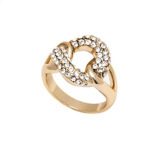 18-karat Gold-plated Gold and Node Ring