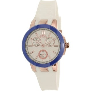 Invicta Women's Ceramics 22206 White Silicone Quartz Watch