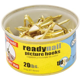 Ook 50607 20# ReadyNail Conventional Picture Hooks In Tidy Tin 30 Ct