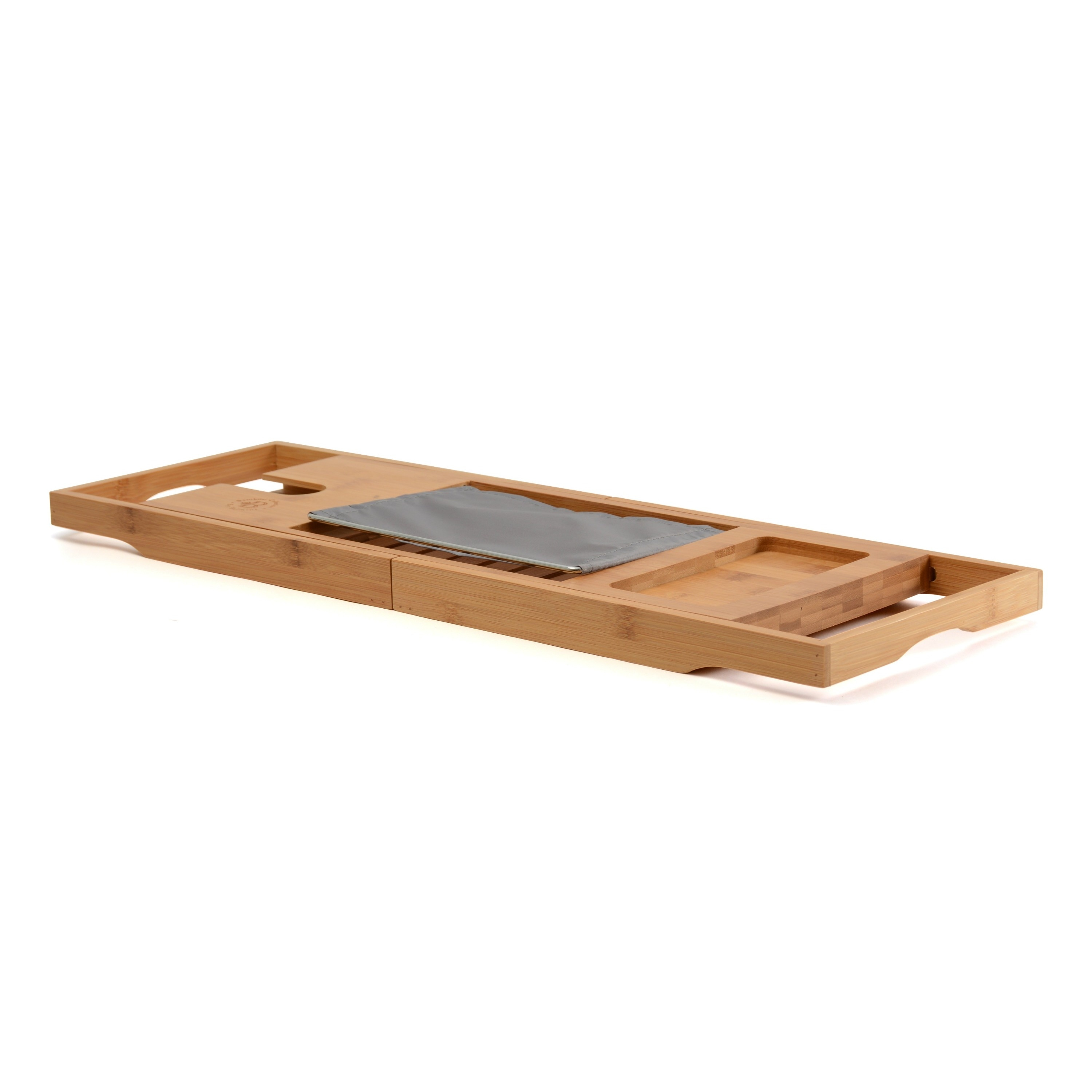 Bamboo Bathtub Caddy Book Tablet Holder Reading Extendable Sides ...
