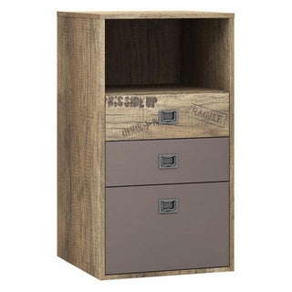 Voelkel Voyager Narrow Brown Crate 3-drawer Dresser