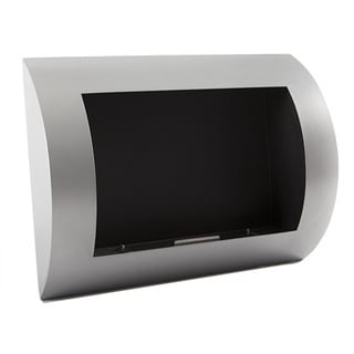EcoPyro Hyland Stainless Steel/ Black Wall Hanging Ethanol Fireplace