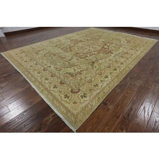 Hand-Knotted Oriental Peshawar Brown wool Rug (9' 2 x 12' 5)