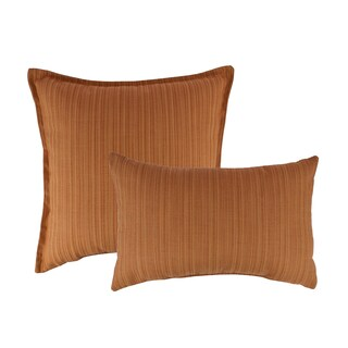 Austin Horn Classics Sunbrella Dupione Nectarine Combo Outdoor Throw Pillows