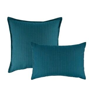 Austin Horn Classics Sunbrella Dupione Deep Sea Combo Outdoor Throw Pillows