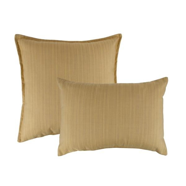 Austin Horn Classics Sunbrella Dupione Cornsilk Combo Outdoor Throw Pillows - Free Shipping ...