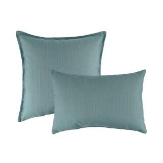 Austin Horn Classics Sunbrella Dupione Celeste Combo Outdoor Throw Pillows