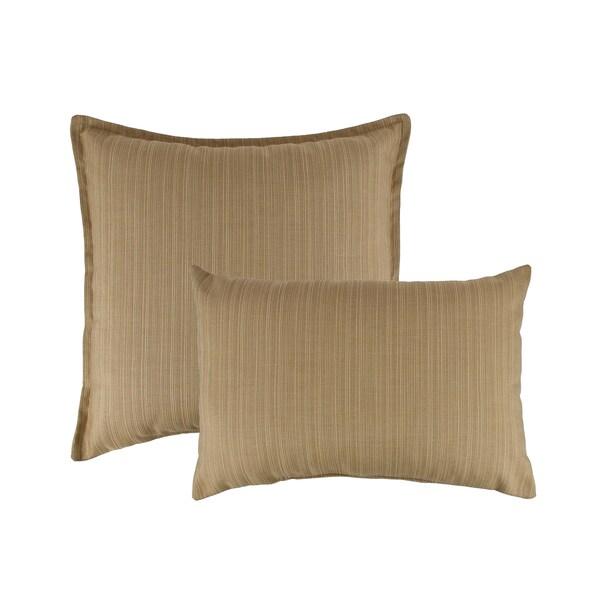 Austin Horn Classics Sunbrella Dupione Bamboo Combo Outdoor Throw Pillows