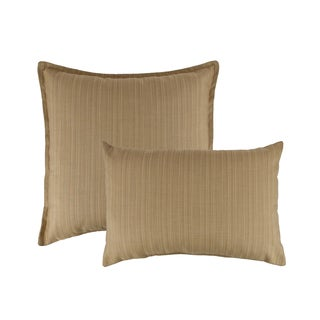 Austin Horn Classics Sunbrella Dupione Bamboo Combo Outdoor Throw Pillows