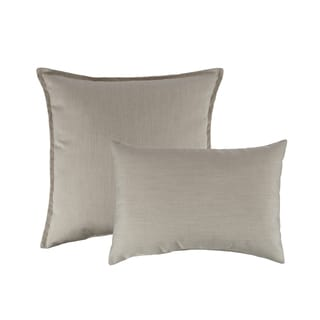 Austin Horn Classics Sunbrella Canvas Flax Combo Outdoor Throw Pillows