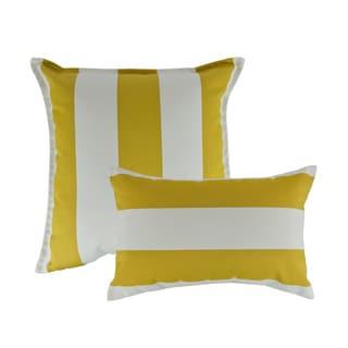 Austin Horn Classics Sunbrella Cabana Citron Combo Outdoor Throw Pillows
