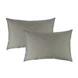 Austin Horn Classics Sunbrella Spectrum Dove Boudoir Outdoor Throw Pillows (set of 2)