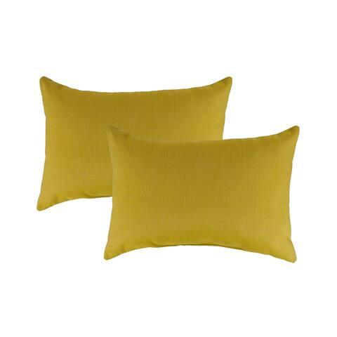 Austin Horn Classics Sunbrella Echo Citron Boudoir Outdoor Throw Pillows (set of 2)