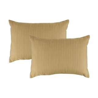 Austin Horn Classics Sunbrella Dupione Cornsilk Boudoir Outdoor Throw Pillows (set of 2)