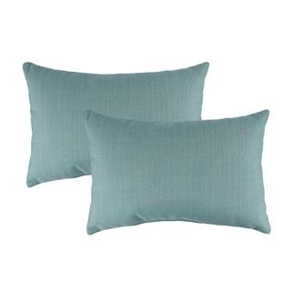 Austin Horn Classics Sunbrella Dupione Celeste Boudoir Outdoor Throw Pillows (set of 2)