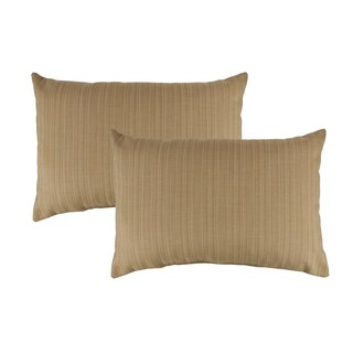 Austin Horn Classics Sunbrella Dupione Bamboo Boudoir Outdoor Throw Pillows (set of 2)