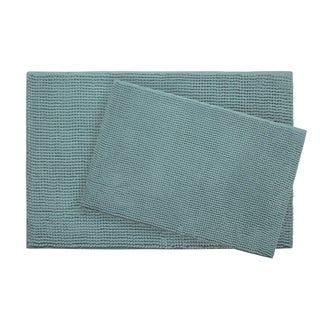 Bounce Comfort Plush Memory Foam Chenille Cushioned 20 x 30 in. 2-Piece Bath Mat Set