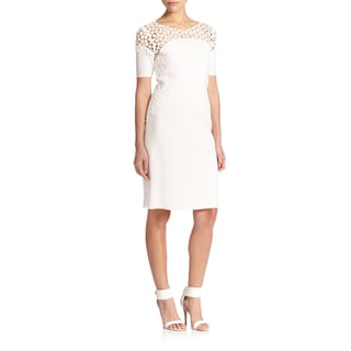 Elie Tahari Women's Suzie Lace Trim Dress