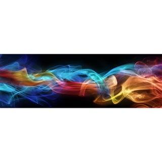 Cortesi Home Smokey Haze Tempered Glass 16 x 48-inch Wall Art