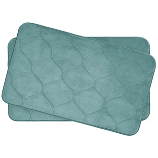 Palace Memory Foam 17 in. x 24 in. 2-Piece Bath Mat Set w/ BounceComfort Technology
