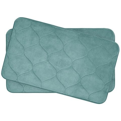 Palace Memory Foam 17 in. x 24 in. 2-Piece Bath Mat Set w/ BounceComfort Technology