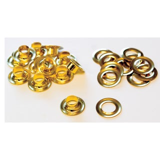 Lord & Hodge 1074-4 #4 Brass Grommet Refills 12-ct