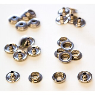 Lord & Hodge 1100A Brass Nickel Plated Canvas Snap Fastener Refills 6-ct