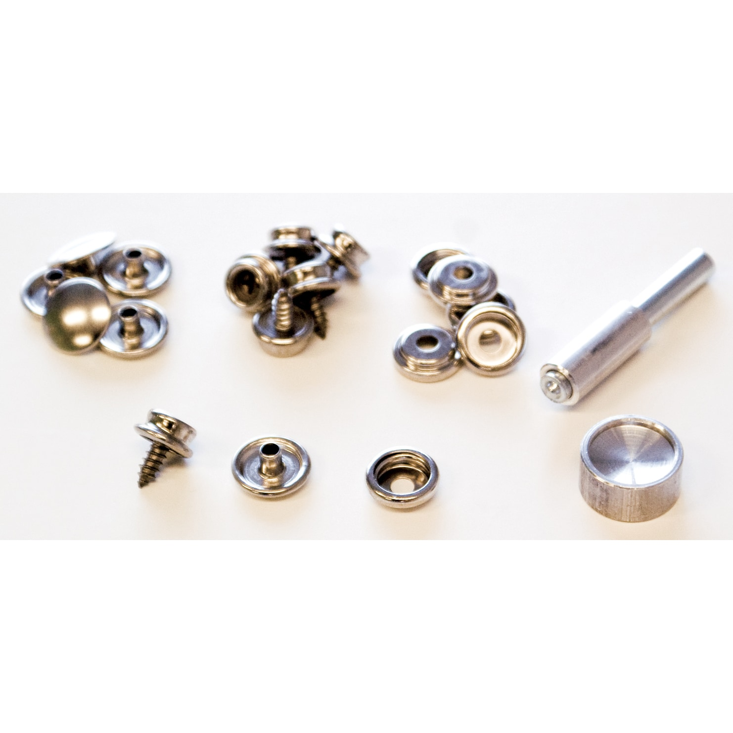 Lord & Hodge 1110 Brass Nickel Plated Screw Stud Snap Fas...