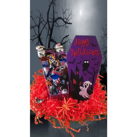 Put'em In the Coffin Halloween Candy Gift Basket