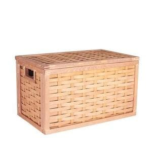 Poplar Wicker Storage Chest, Small