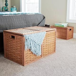 Large Wicker Storage Chest