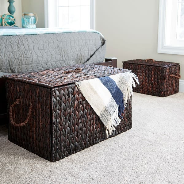 Large Wicker Basket Storage Chest Free Shipping Today
