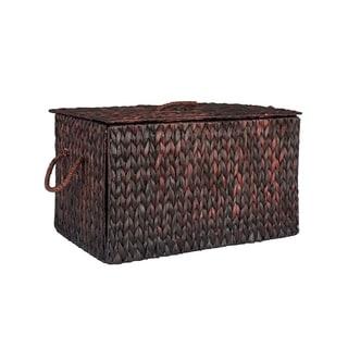 Large Wicker Basket Storage Chest