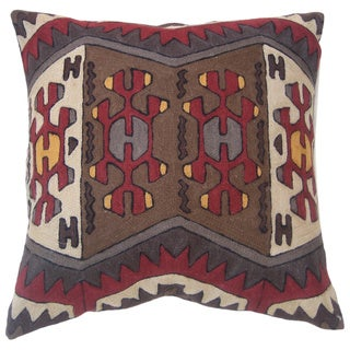 Nomad Handmade Chain Stitch Throw Pillow (India)