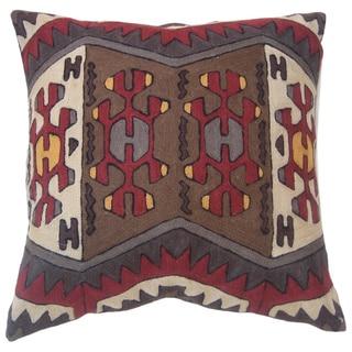 Nomad Handmade Chain Stitch Throw Pillow (India)