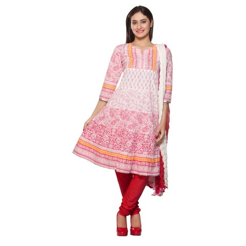 Handmade Women's Indian 3-Piece Ensemble With Print (India)