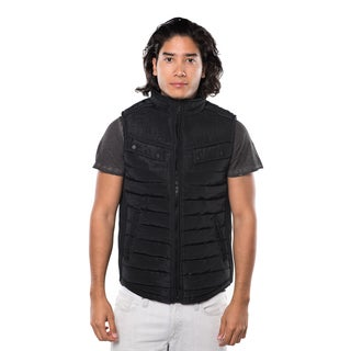 Rock Revolution Men's Polyester Quilted Fur Lined Zip Up Vest