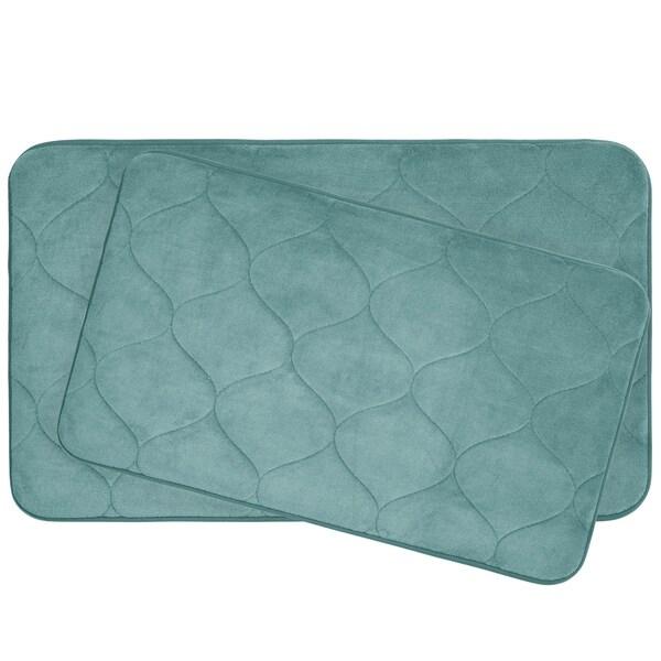 Palace Memory Foam 20 in. x 34 in. 2-Piece Bath Mat Set w/ BounceComfort Technology