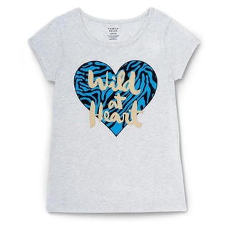 French Toast Girls' Short-sleeve Heart Graphic T-shirt